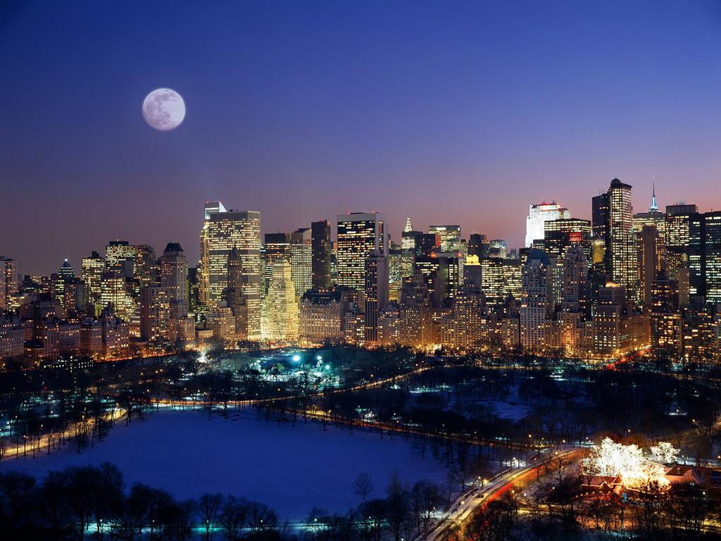 carta da parati new york: Carta Da Parati Di New York Paesaggio Urbano Citta Area Metropolitana Cielo Notte 51127 Wallpaperuse