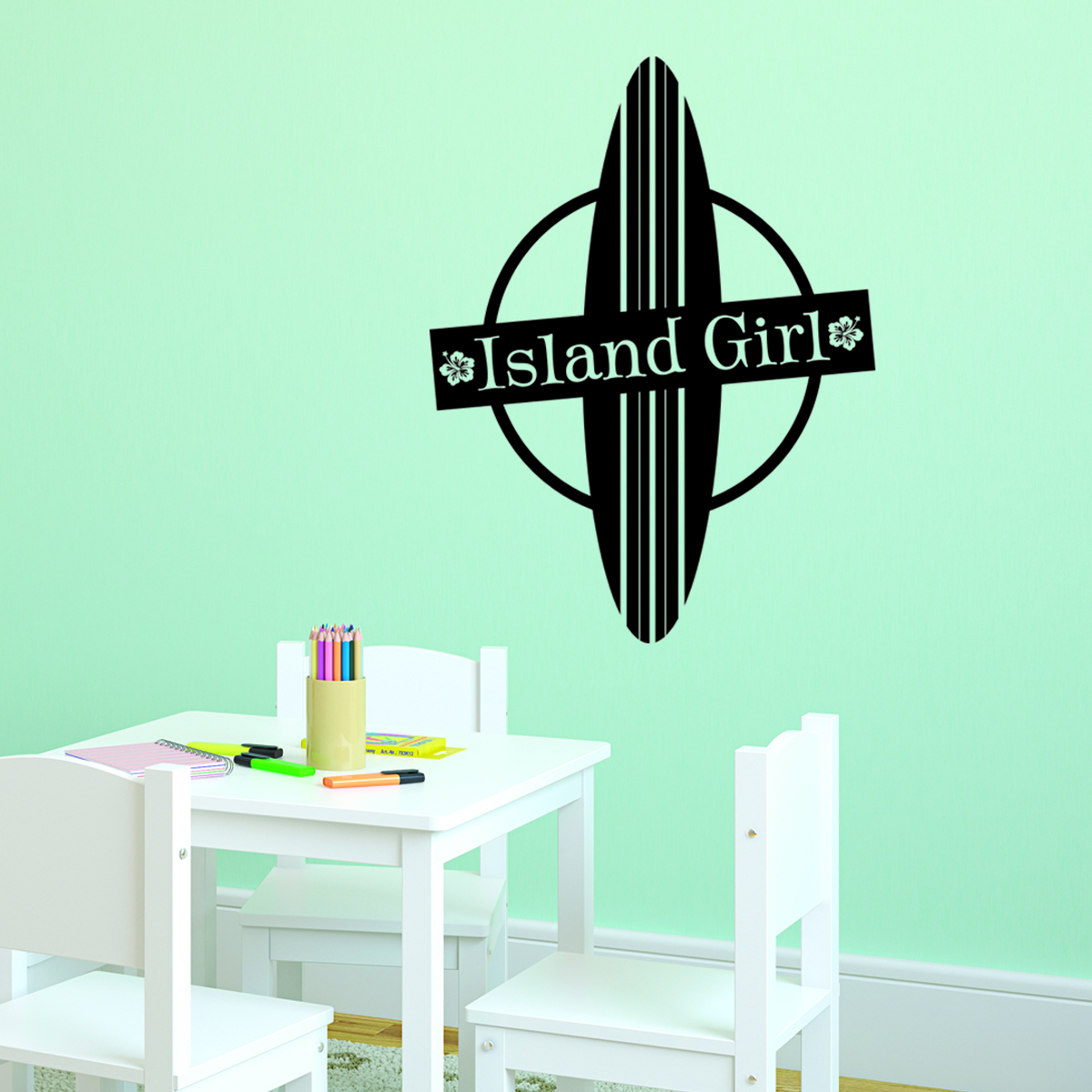 Island Girl Amp Board Wall Quotes Decal