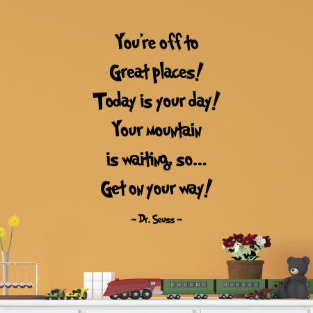 You're Off To Great Places Wall Quotes™ Decal | WallQuotes.com