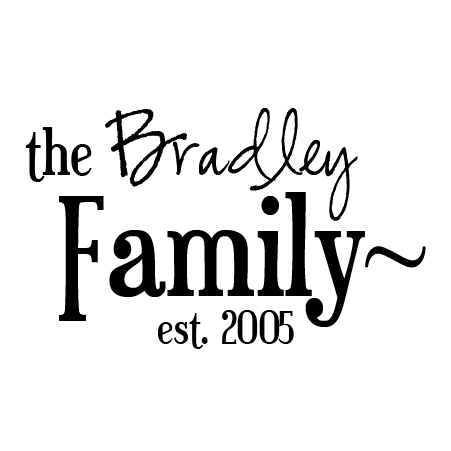 Bradley Family Name Design Wall Quotes™ Decal | WallQuotes.com