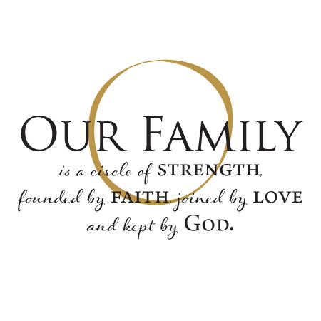 Download Our Family Is Kept By God Wall Quotes™ Decal   WallQuotes.com
