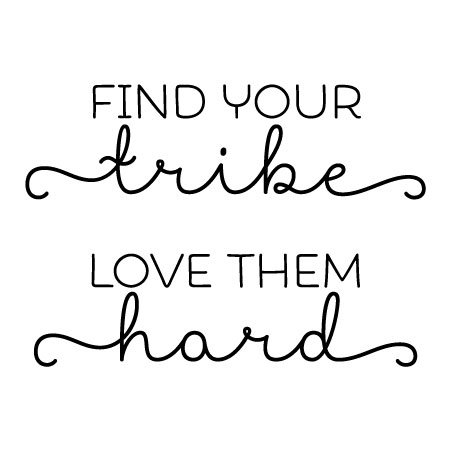 Download Find Your Tribe Wall Quotes™ Decal | WallQuotes.com