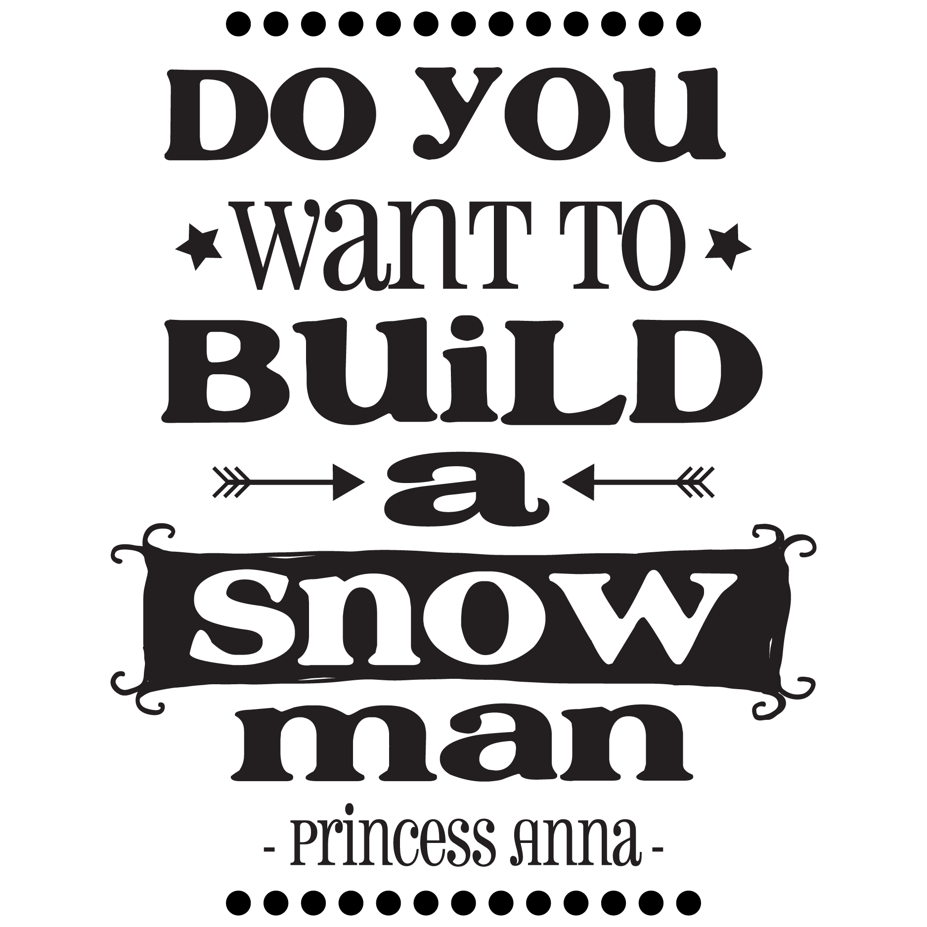 Build A Snowman Wall Quotes Decal