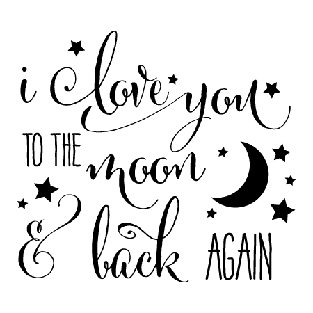 Download To The Moon & Back Wall Quotes™ Decal   WallQuotes.com