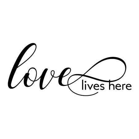 Download Love Lives Here Wall Quotes™ Decal | WallQuotes.com