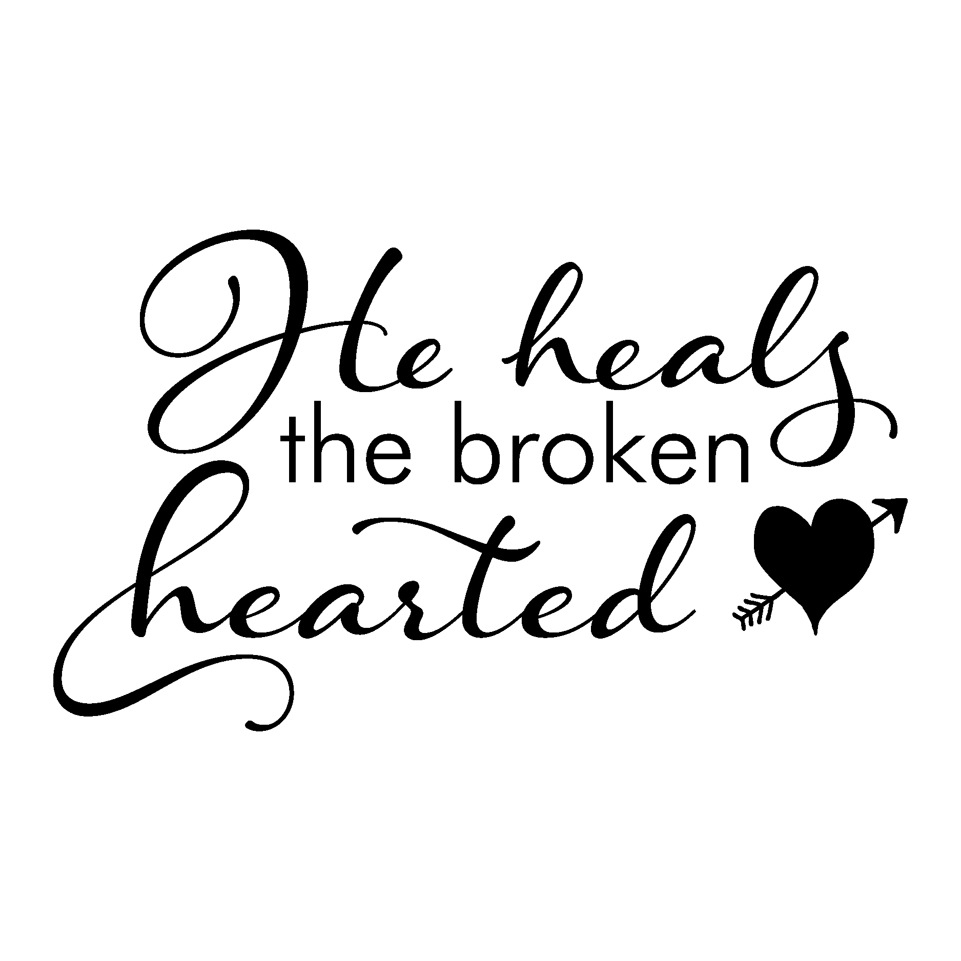 Heals The Broken Hearted Wall Quotes Decal