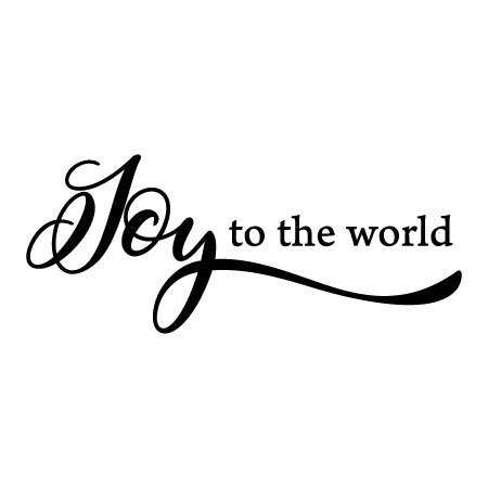 Joy To The World Script Wall Quotes Decal