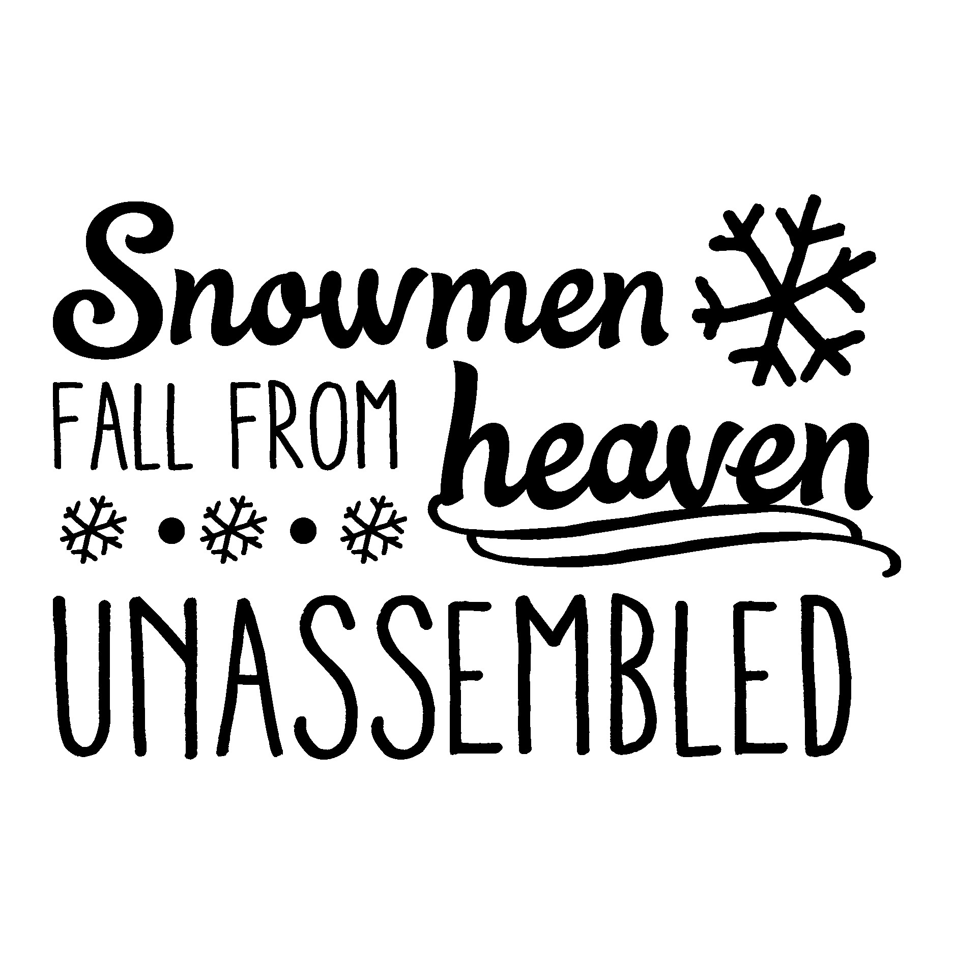 Snowmen Fall From Heaven Wall Quotes Decal