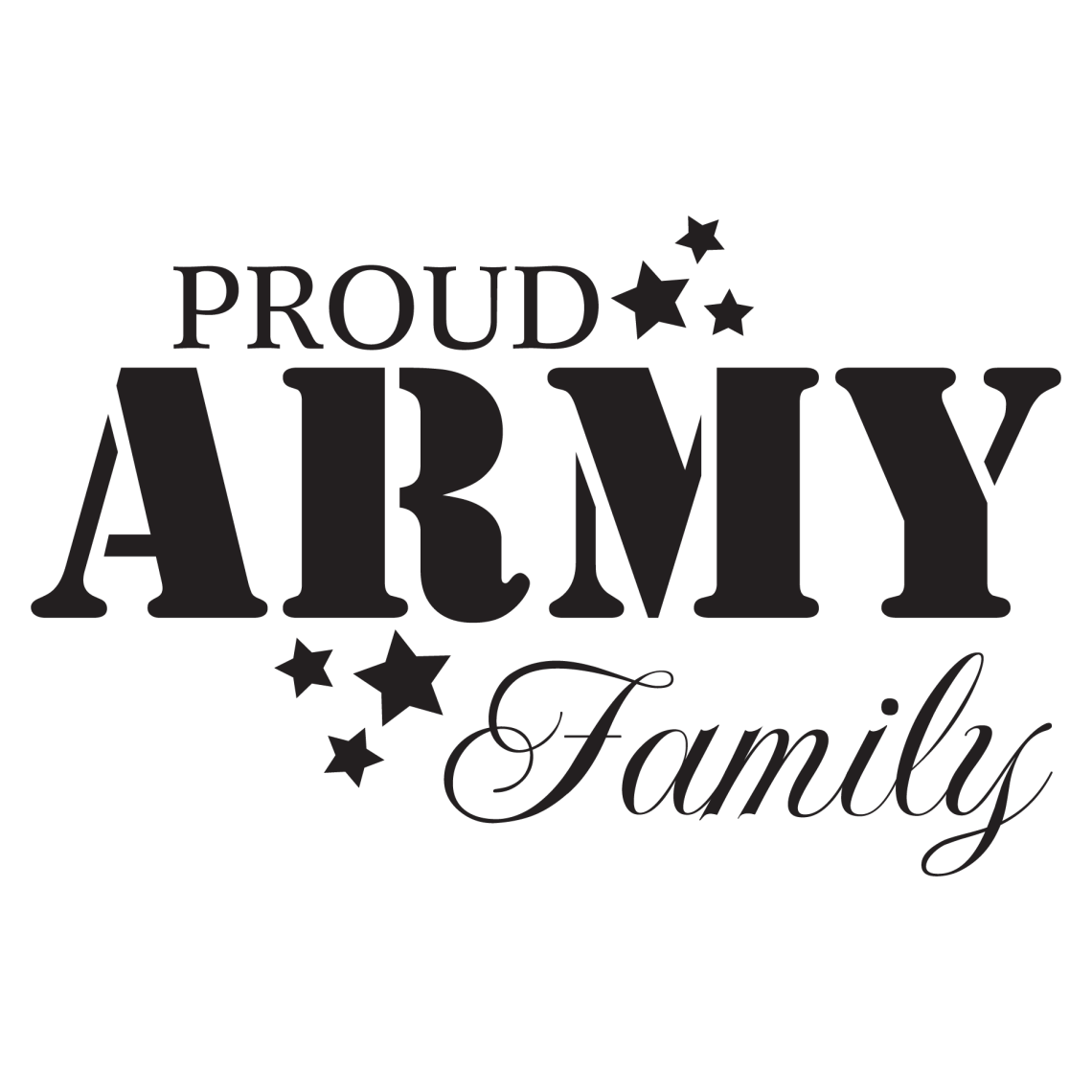 Download Proud Army Family Wall Quotes™ Decal | WallQuotes.com