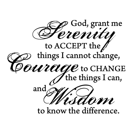 Serenity Prayer Porcelain Wall Quotes Decal