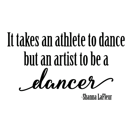 Artist Dancer Wall Quotes Decal