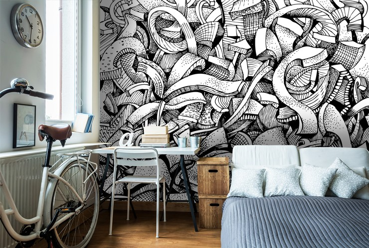 Graffiti Wallpaper For Your Teenagers Bedroom Wallsauce USA