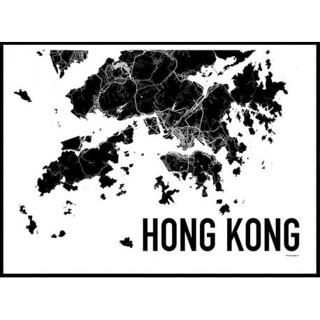 Hong Kong Map Poster  Find your posters at Wallstars Online  Shop today  Hong Kong Map Poster