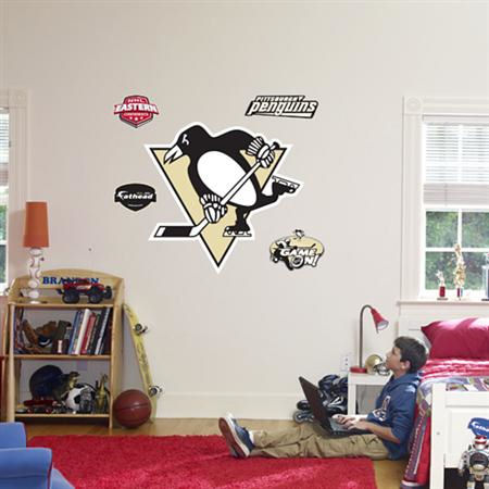 Pittsburgh Penguins Bedroom Decor Best 2017 Fathead Pittsburgh Penguins Logo Wall Graphics