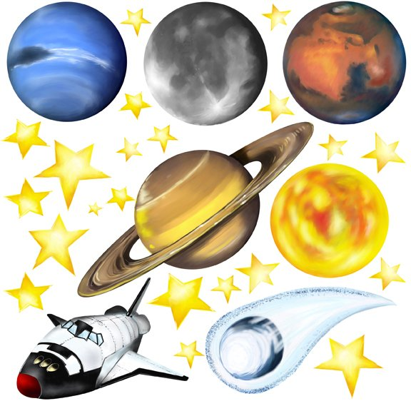 Large Wall Decals Of Planets Pics About Space