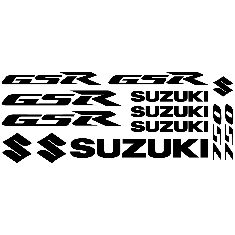Wallstickers Folies Suzuki Gsr 750 Decal Stickers Kit