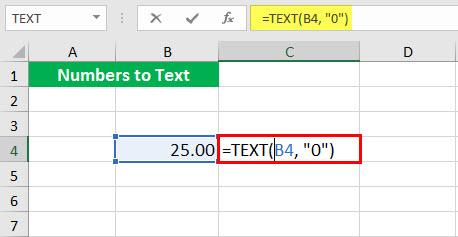 Преобразовать в число (Иллюстрация текстовой функции - 1-1)