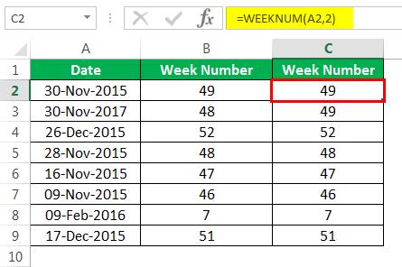 Пример номера недели 1-8