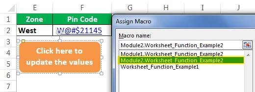 Vba Worksheet Function