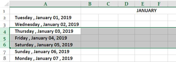 Заморозить ячейки в Excel Ex. 1