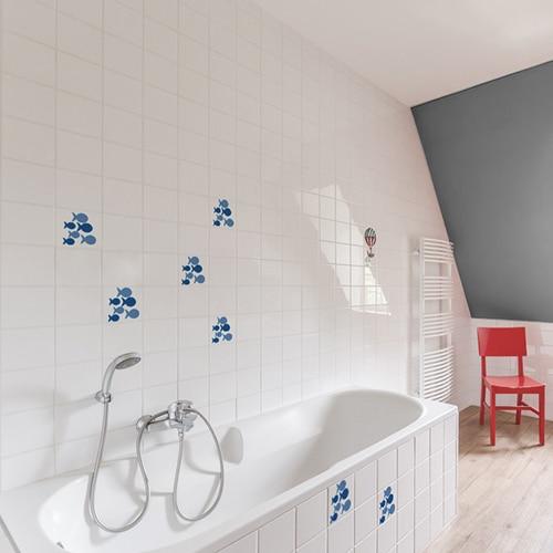 Stickers Carrelage Salle De Bain La Deco Adhesive Qui Plait Wsh