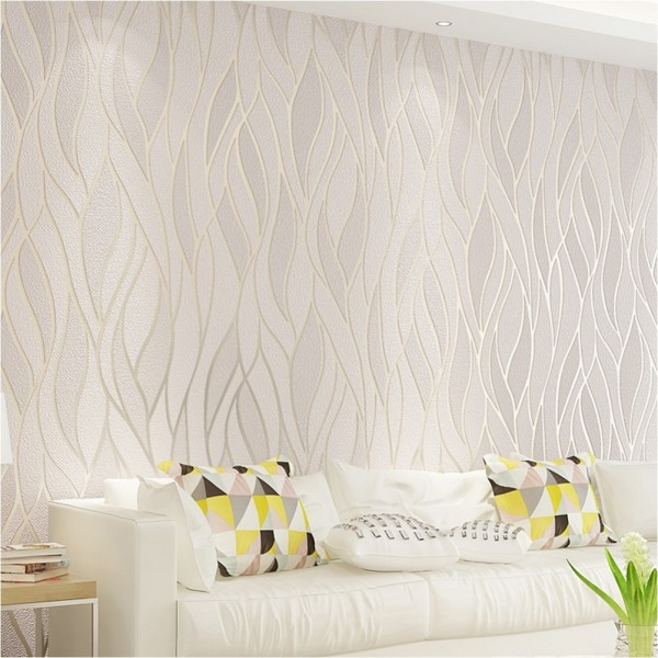 Modern 3d Embossed Striped Suede Textured Geometric Wallpaper Non Woven Wallcovering For Bedroom Living Room Tv Background Decor Wallsymbol Com