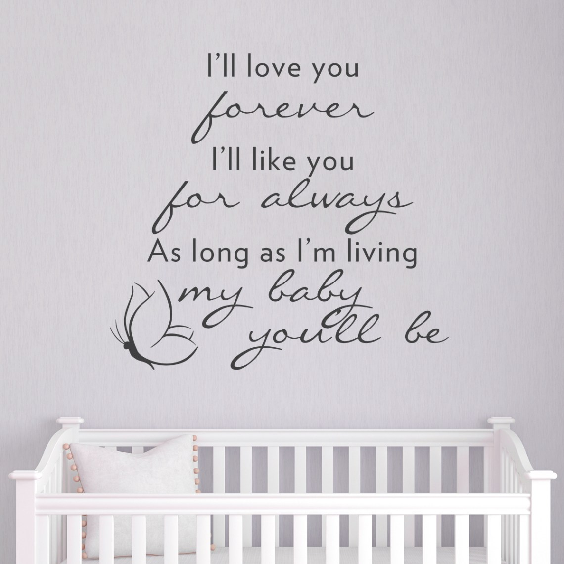 Download I'll love you forever Wall Art Decal