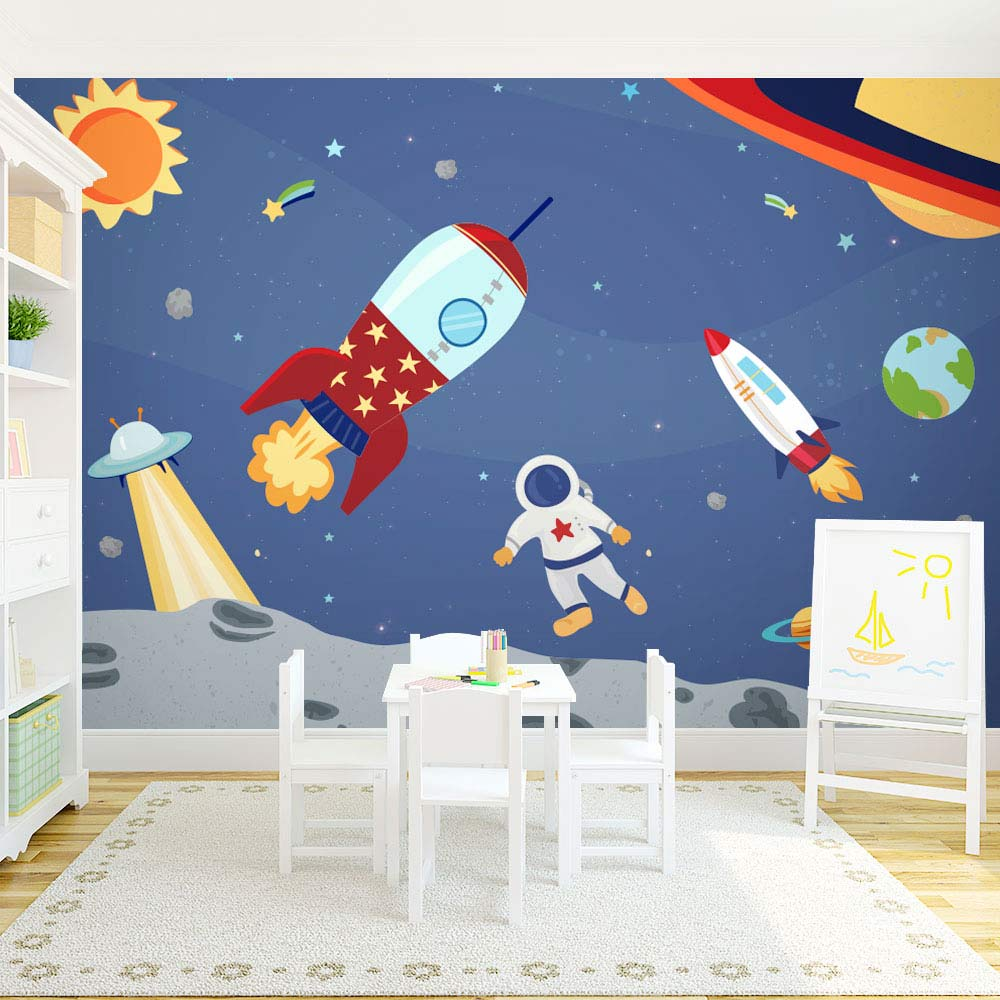 Space Adventure Wall Mural
