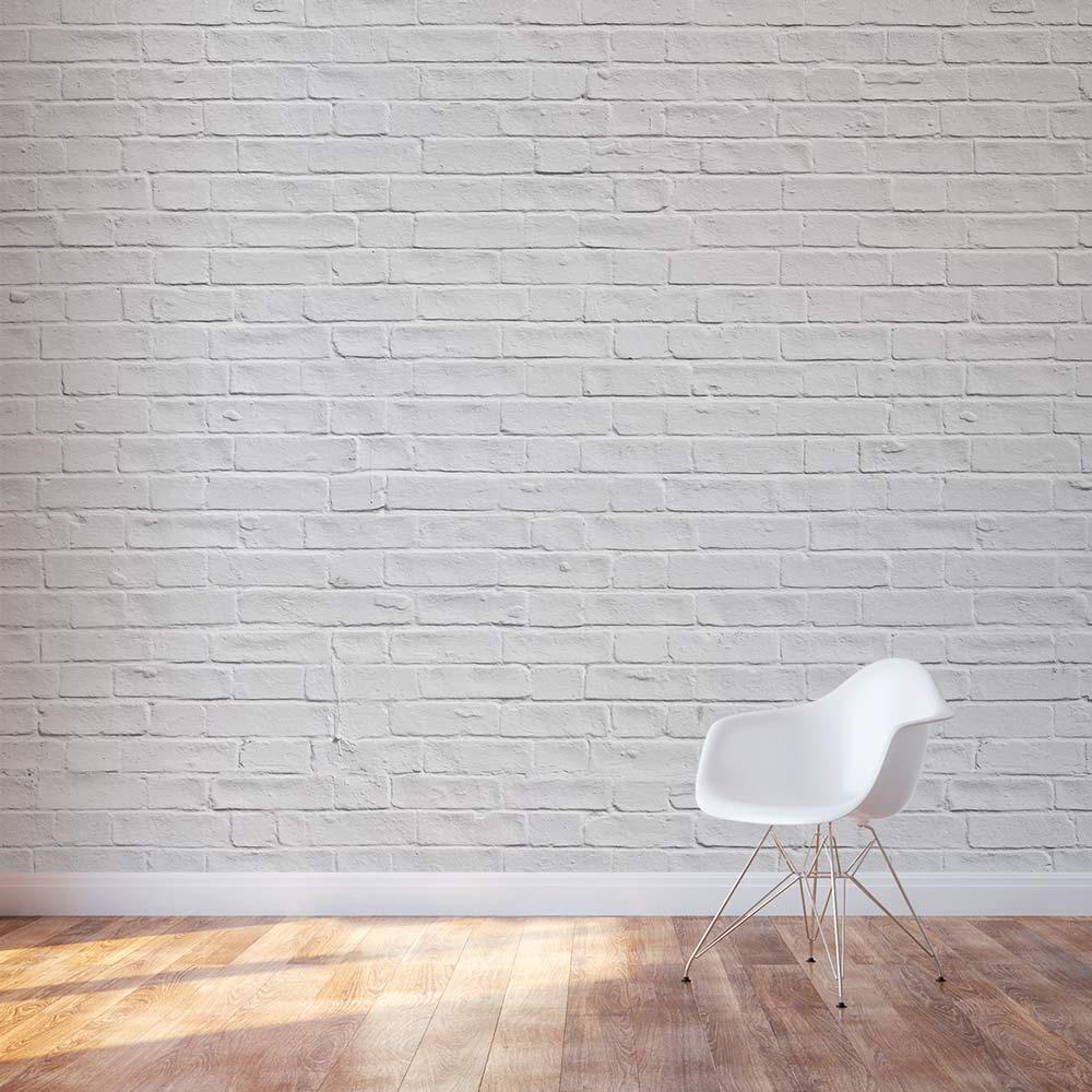 White Brick Wall Mural Brick Wall Decal Wallums