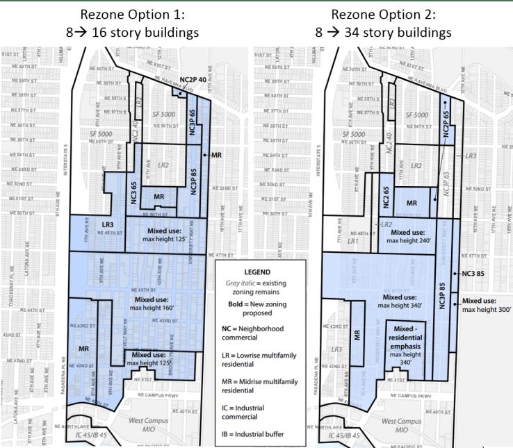 U-District Rezone Options