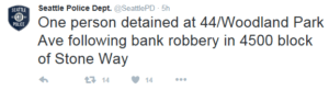 Robbery tweet