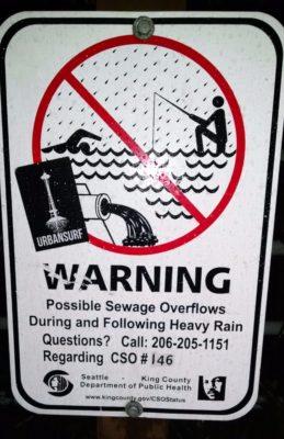 sewage sign