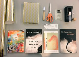 Pre-wrapped books for upcoming Seattle Arts & Lectures readers include a free ticket.