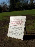 Playfield Renovation Is Underway
