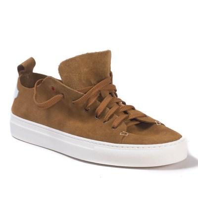 Sneaker uomo Piuma camoscio whiskey