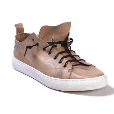Sneaker uomo piuma pelle antico