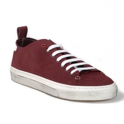 sneaker piuma camoscio dark wine-6803