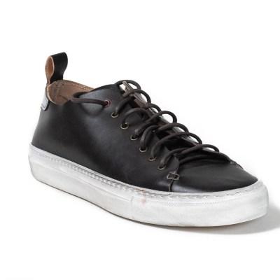 sneaker piuma pelle nero-6808