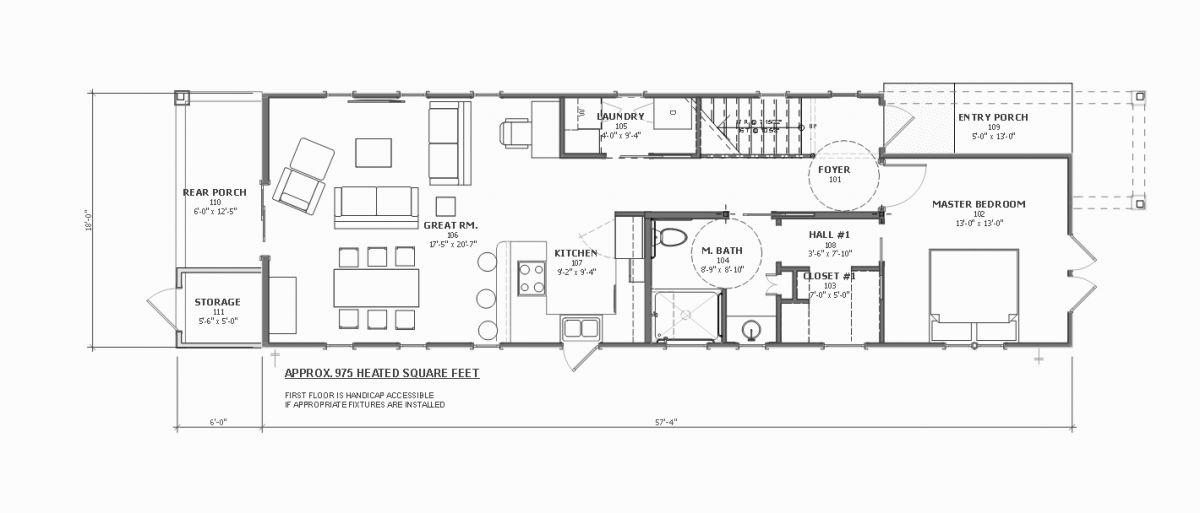 Georgetown Shotgun Style Walsh Krowka Amp Associates Inc Pawleys Island SC Architect