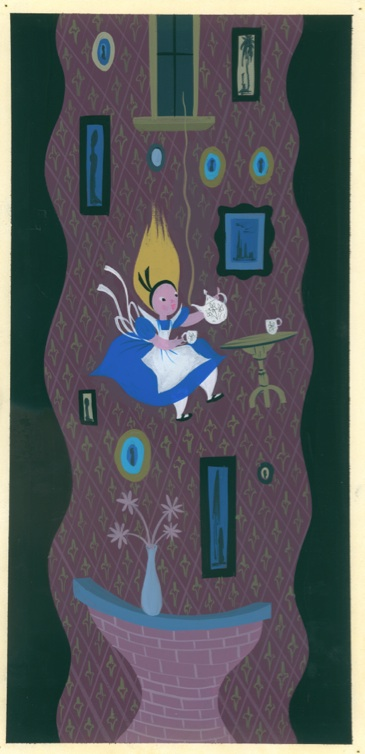 Alice in Wonderland concept artwork by Mary Blair - Magic, Color, Flair: The World of Mary Blair