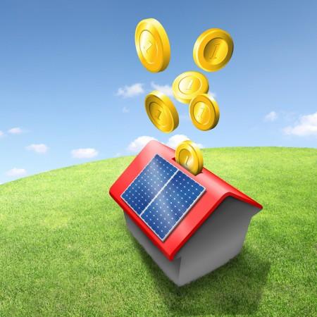 Illustration Sparen mit Solarstrom