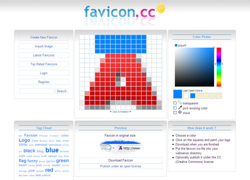 Create favicon online or import image   WWWalter