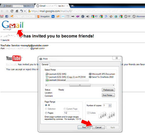 How can I print emails without gmail logo? (Chrome) | WWWalter