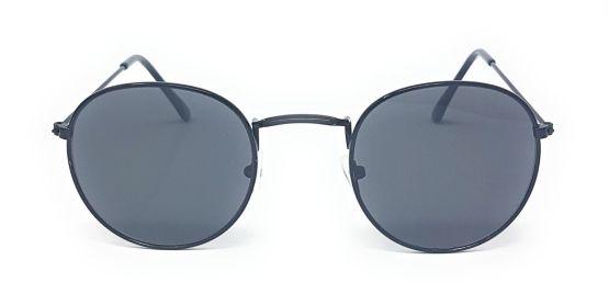 Round Retro Sunglasses - All Silver BLACK GOLD