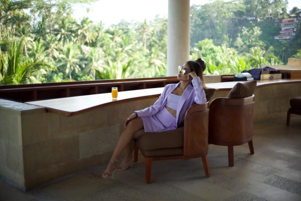 Drone shot Bali holiday glasses sunglasses