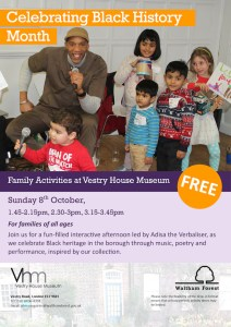 Celebrating Black History Month: Vestry House Museum Family Day @ Vestry House Museum | United Kingdom
