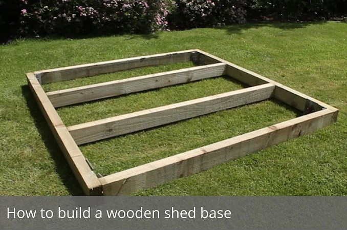 How Build Shed Base