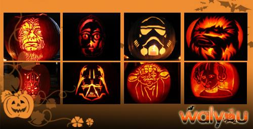 star wars halloween pumpkin carvings