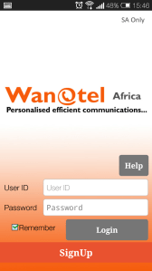 Set up a call back function with the Wanatel mobile dialer app