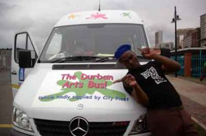 Durban, South Africa art bus guide, King Zorro. Pic: Wanda Hennig